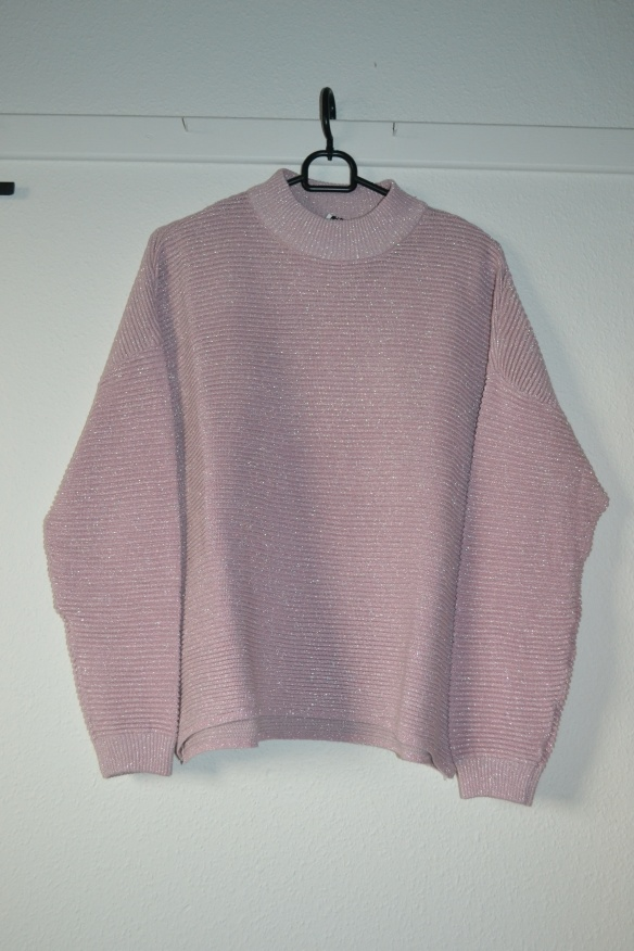 lyserod-oversized-sweater-m-solvglimmer-hm