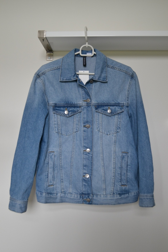 Lyseblå oversized denim jakke - H&M