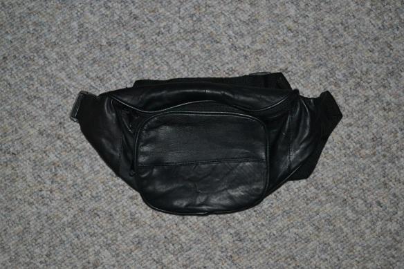 Sort bæltetaske