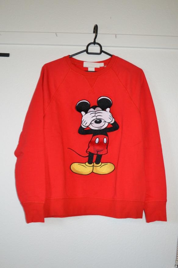 Rød sweatshirt m. Mickey Mouse - H&M