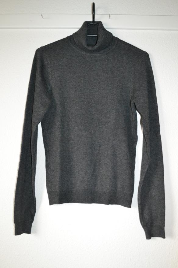 Koksgrå rullekrave trøje - second hand