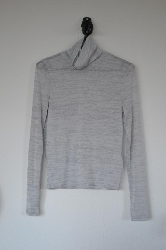 Lysegrå tynd rullekrave trøje - H&M