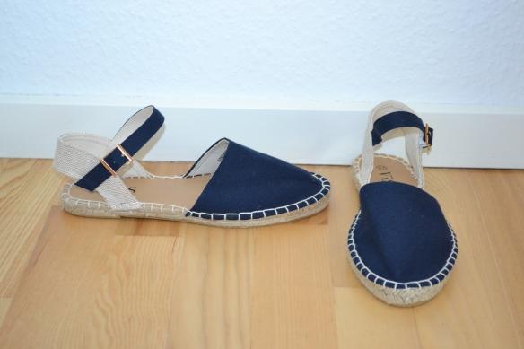 Marineblå og beige espadrillos - VRS