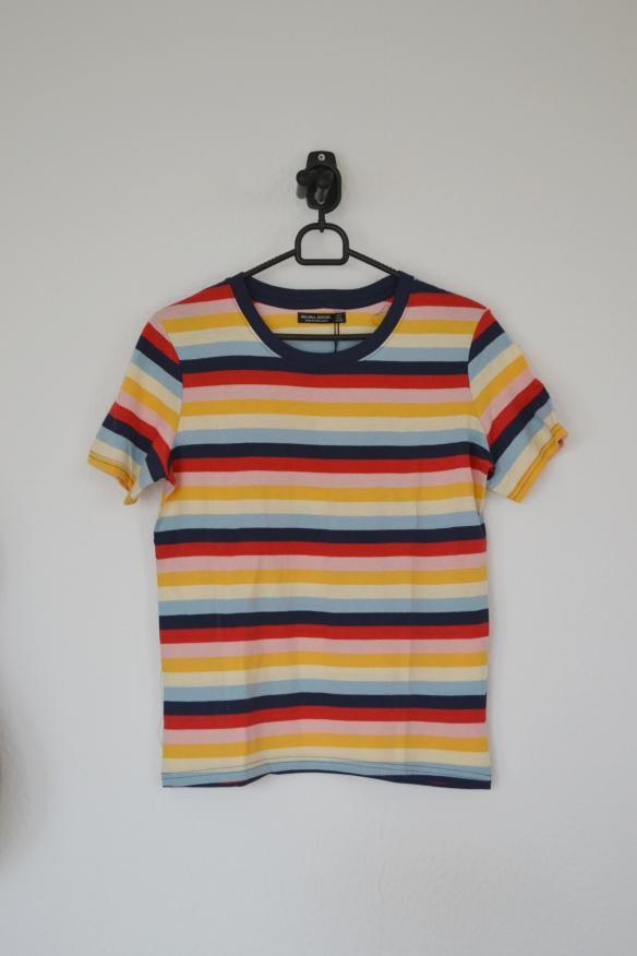 Regnbue stribet T-shirt - Bershka