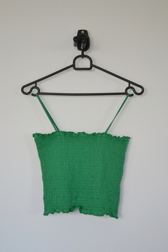 Grøn strop crop top - New Look