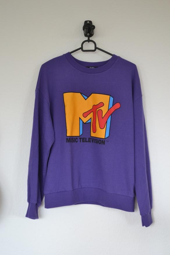 Lilla MTV sweatshirt - Bershka