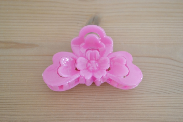 Pink spønde m. blomst