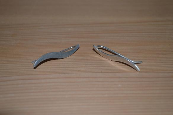 Sølv øreringe fra loppemarked