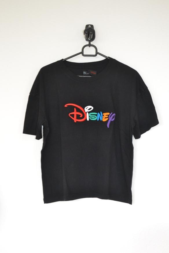 Sort T-shirt m. multifarvet Disney print - Bershka
