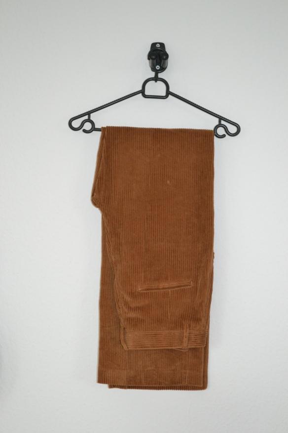 Brune fløjlsbukser m. vide - H&M