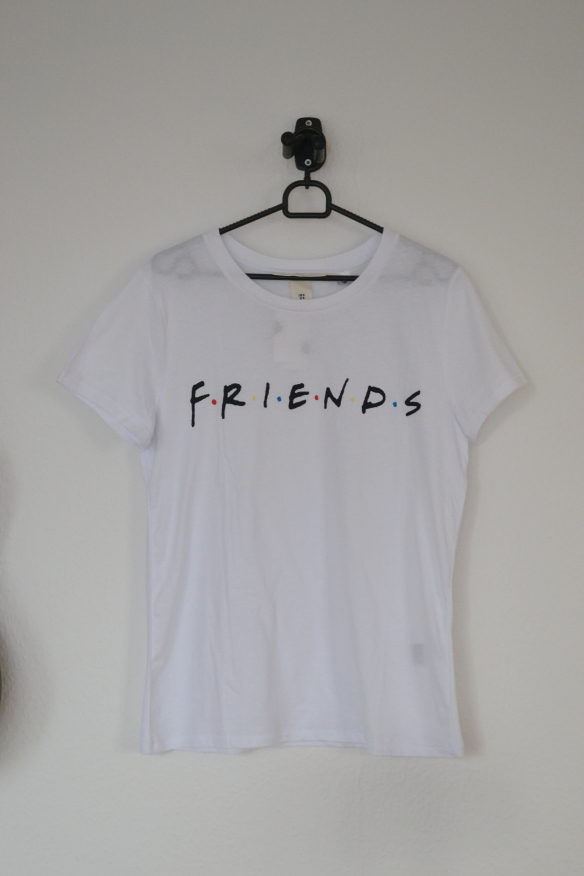 Hvid T-shirt m. Friends logo - H&M