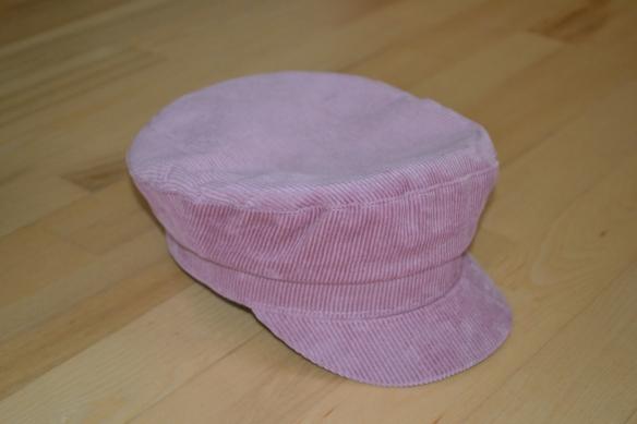 Lyserød fløjl baker boy cap - H&M