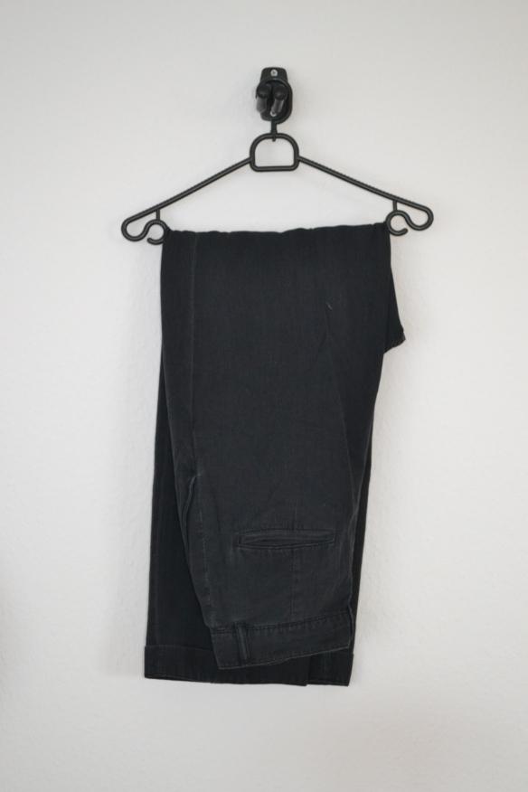 Sorte højtaljede bukser m. vide - H&M