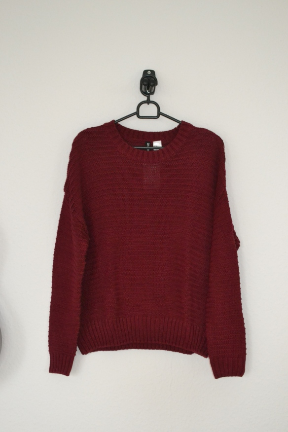 Bordeauxrød sweater - H&M