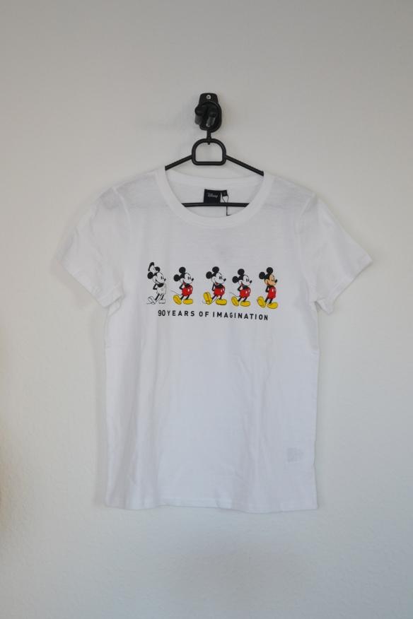 Hvid T-shirt m. Mickey Mouse - Føtex