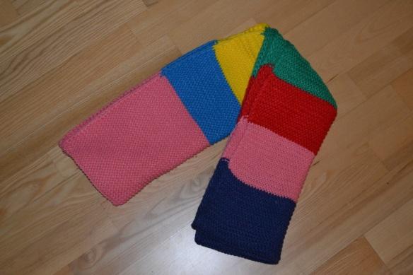 Multifarvet halstørklæde
