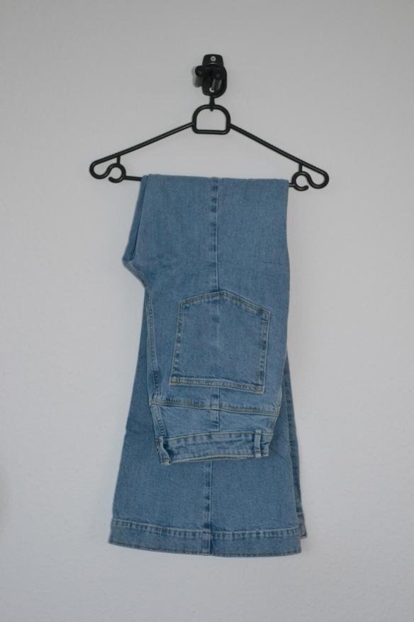 blå flared jeans - h&m