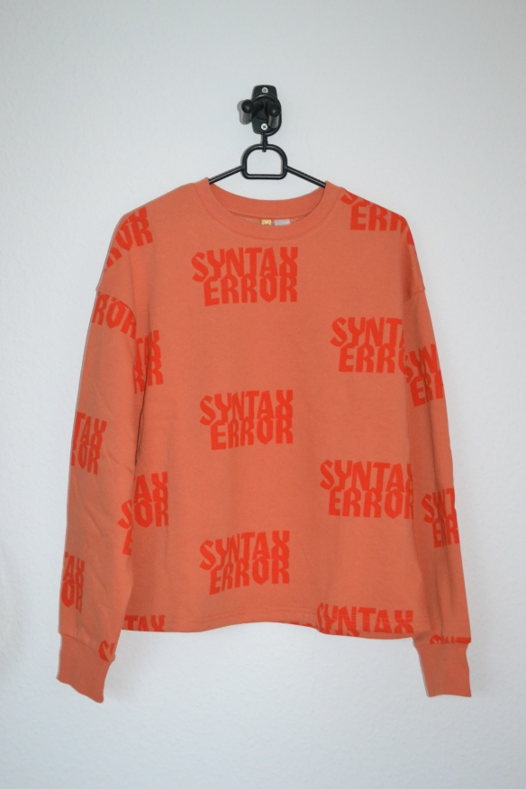 orange sweatshirt m. skrift - h&m