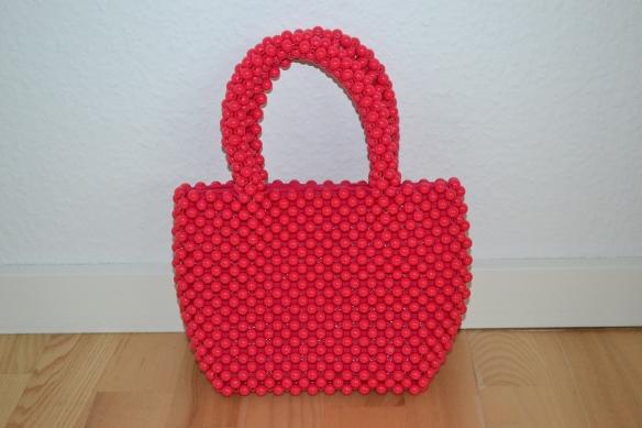 Pink håndtaske i perler - Zara