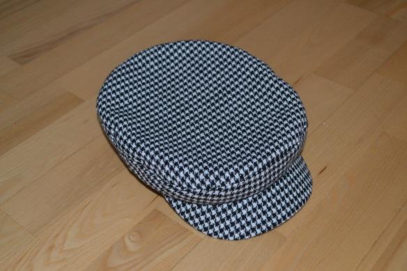 Sort og hvid houndstooth print baker boy hat - H&M