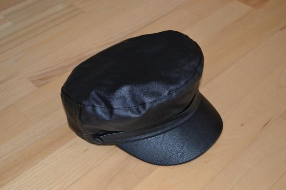 Sort fake læder baker boy hat - Topshop