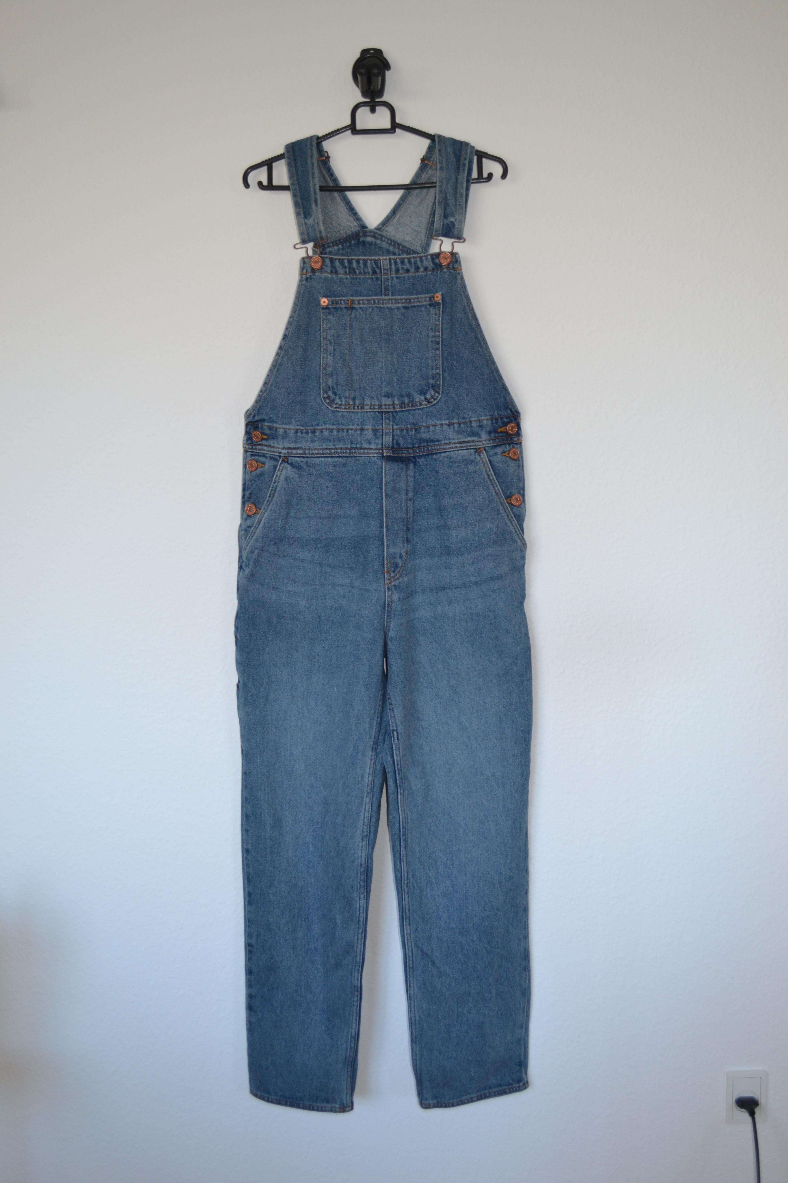 Blå denim overalls - Monki
