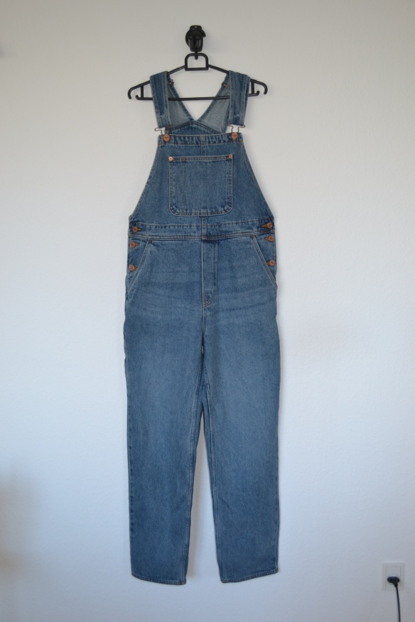 Blå denim overalls - Monki