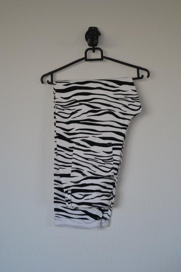 Hvide og sorte zebra print jeans - Asos