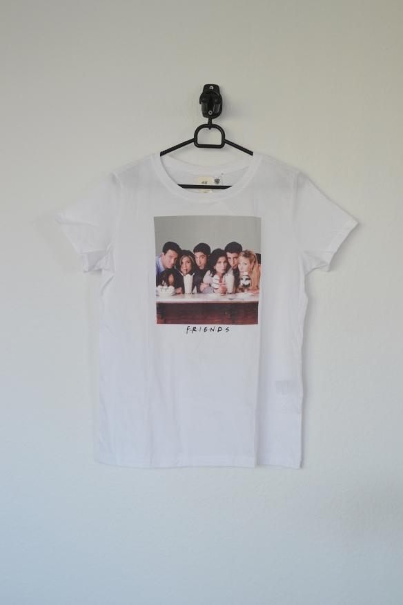 Hvid T-shirt m. Friends milkshake print - H&M