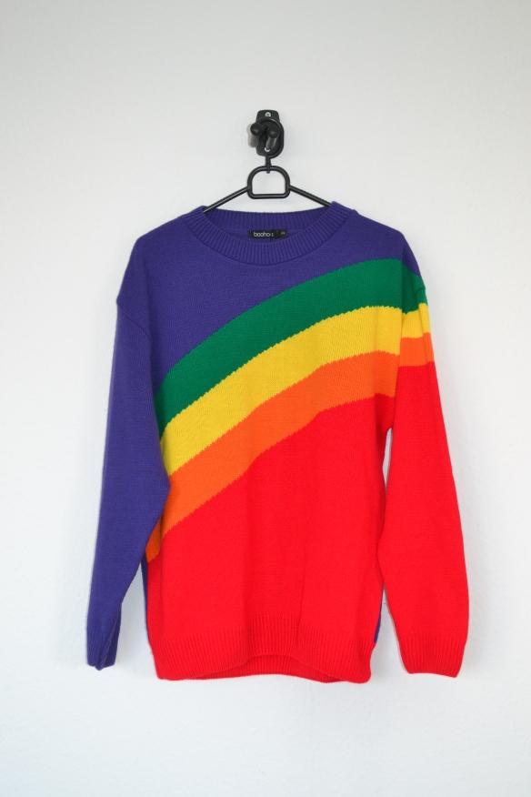 Regnbue sweater - Boohoo