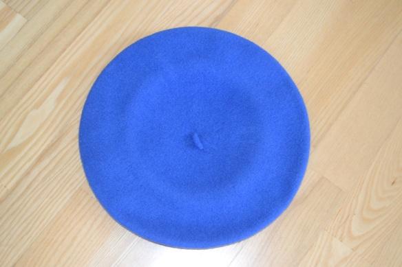 Blå beret - second hand