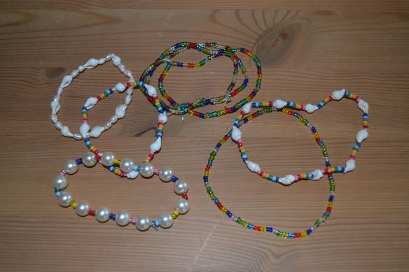Hjemmelavede perlesmykker
