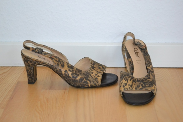 Brune leopardmønstrede sandaler - second hand