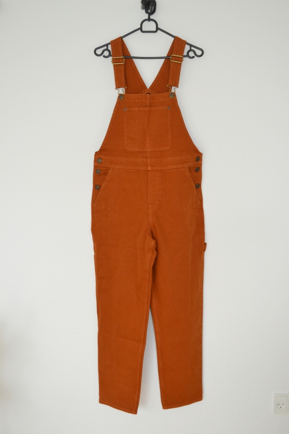 Rustbrune denim overalls - Monki