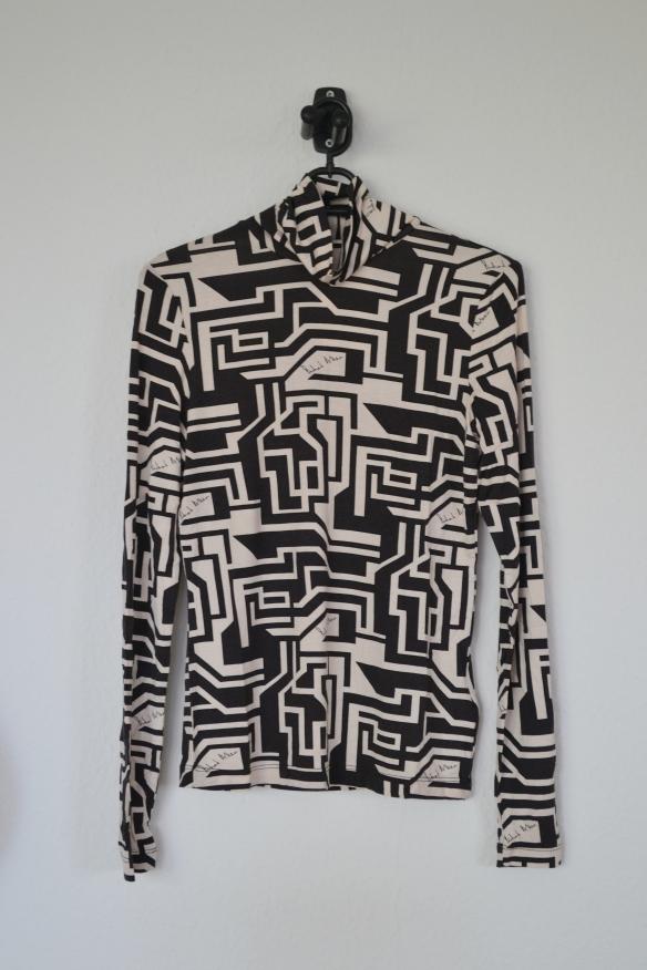 Sort og beige mønstret rullekravetrøje - H&M x Richard Allen