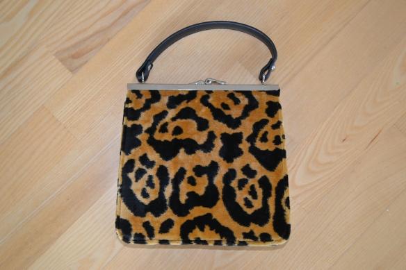 Brun og sort leopardmønstret håndtaske m. rem - Topshop
