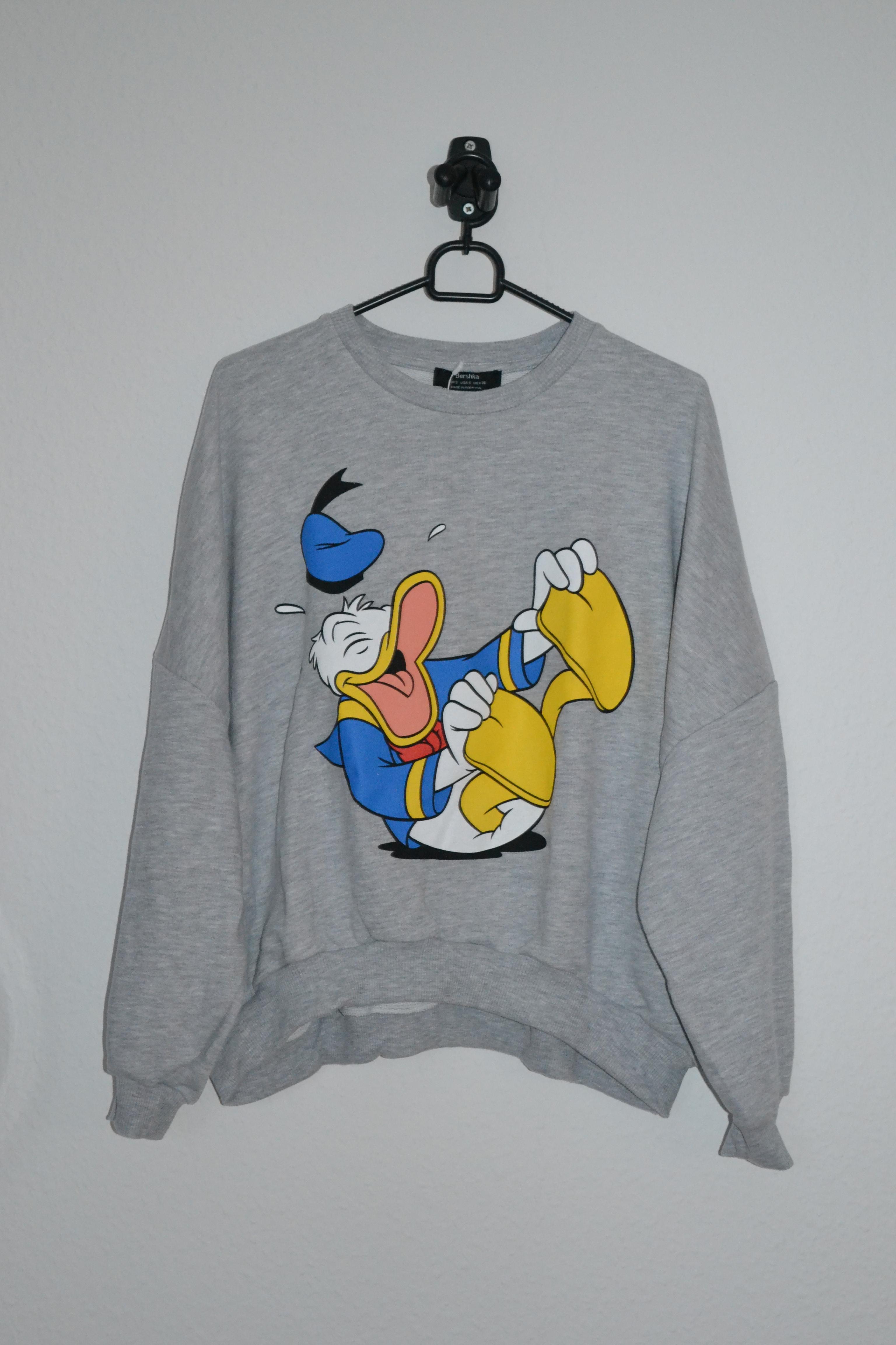 Grå sweatshirt m. Anders And print - Bershka