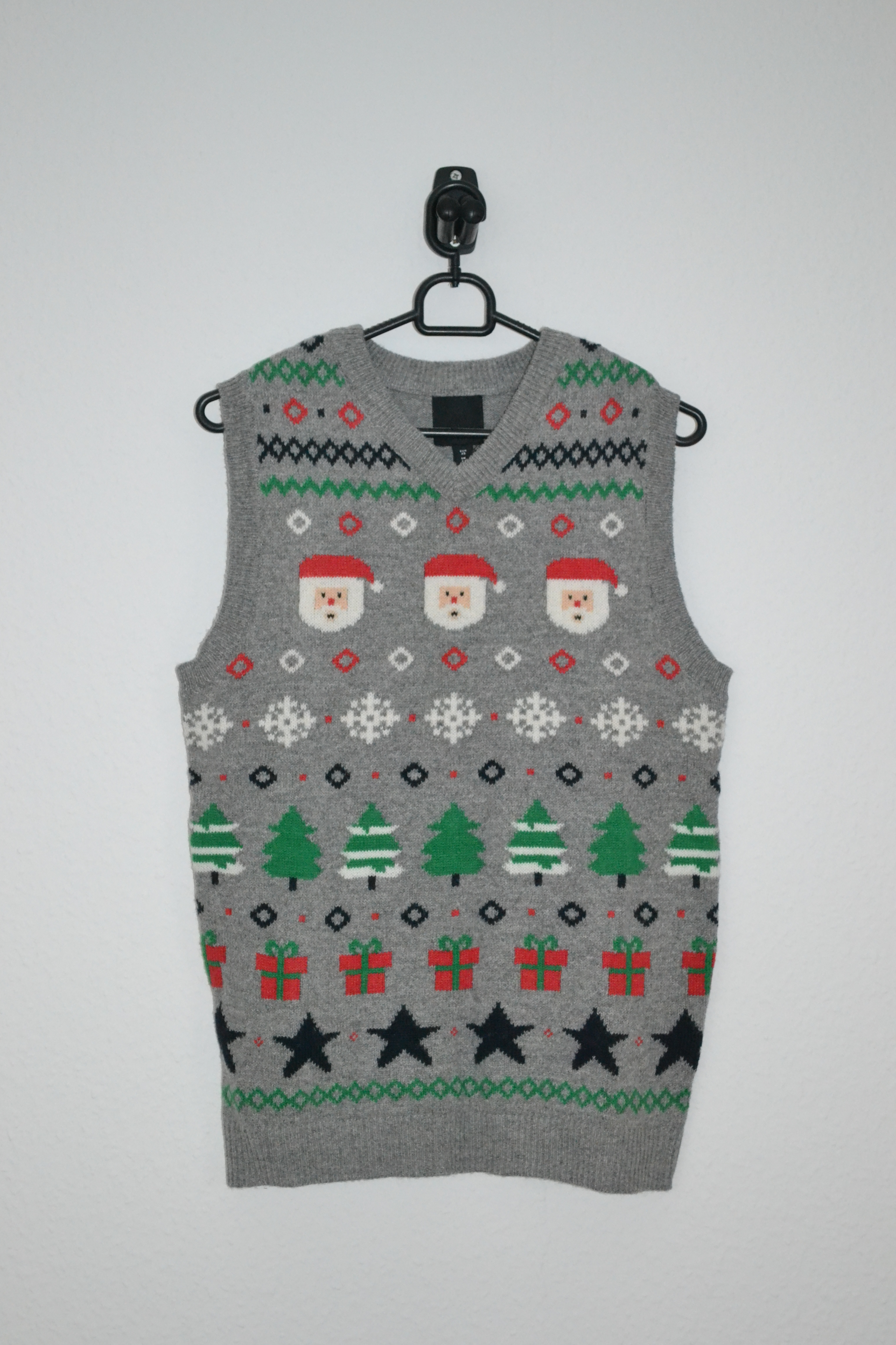 Grå sweatervest m. julemotiver - H&M