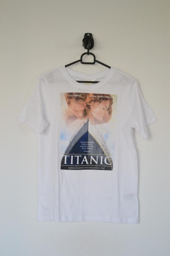 Hvid T-shirt m. Titanic print - H&M