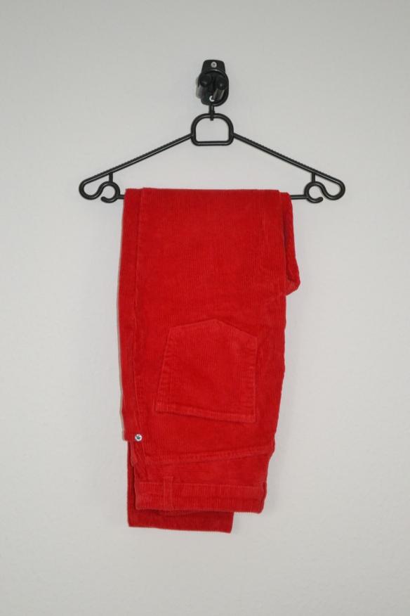Røde fløjlsbukser - Monki