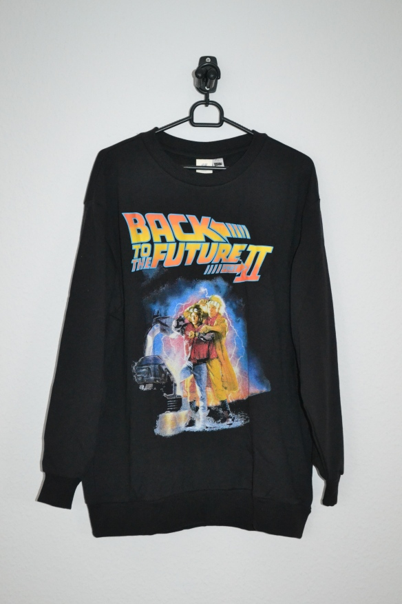 Sort lang sweatshirt m. Back to the Future print - H&M