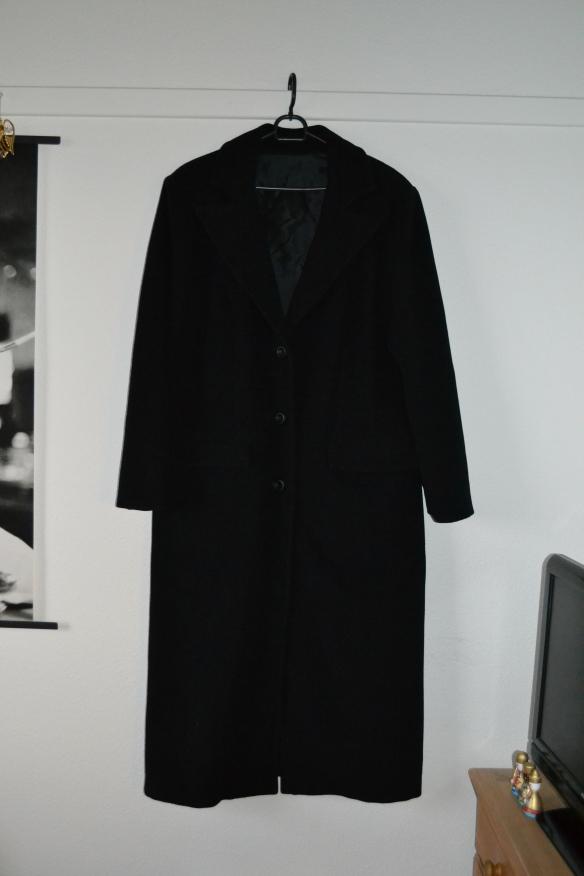 Sort lang uldfrakke - arvestykke