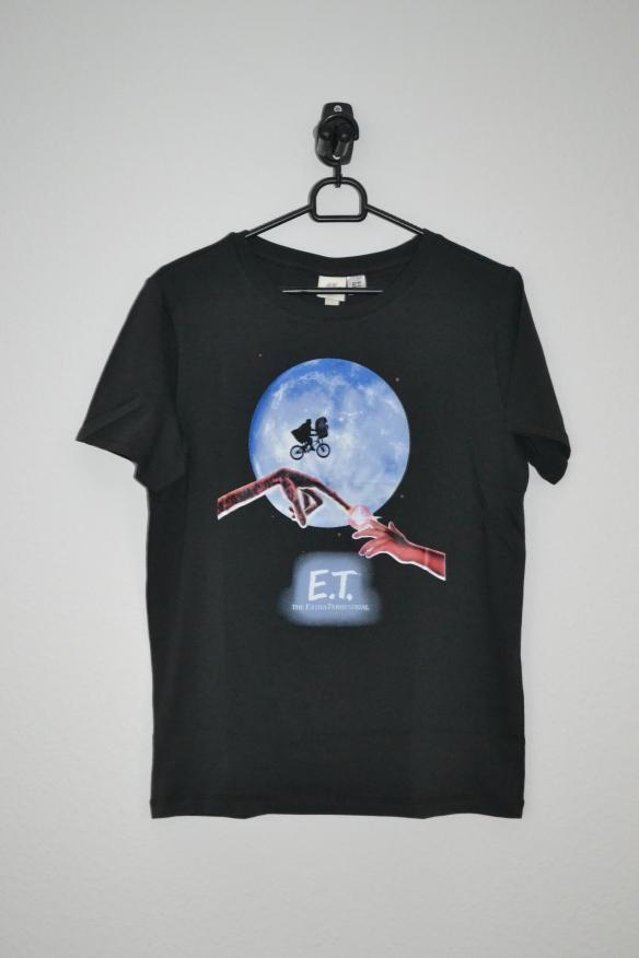 Sort T-shirt m. ET print - H&M