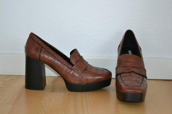 Brune loafers m. chunky hæl og plateau - Mango