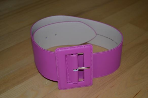 Hot pink bredt taljebælte - H&M