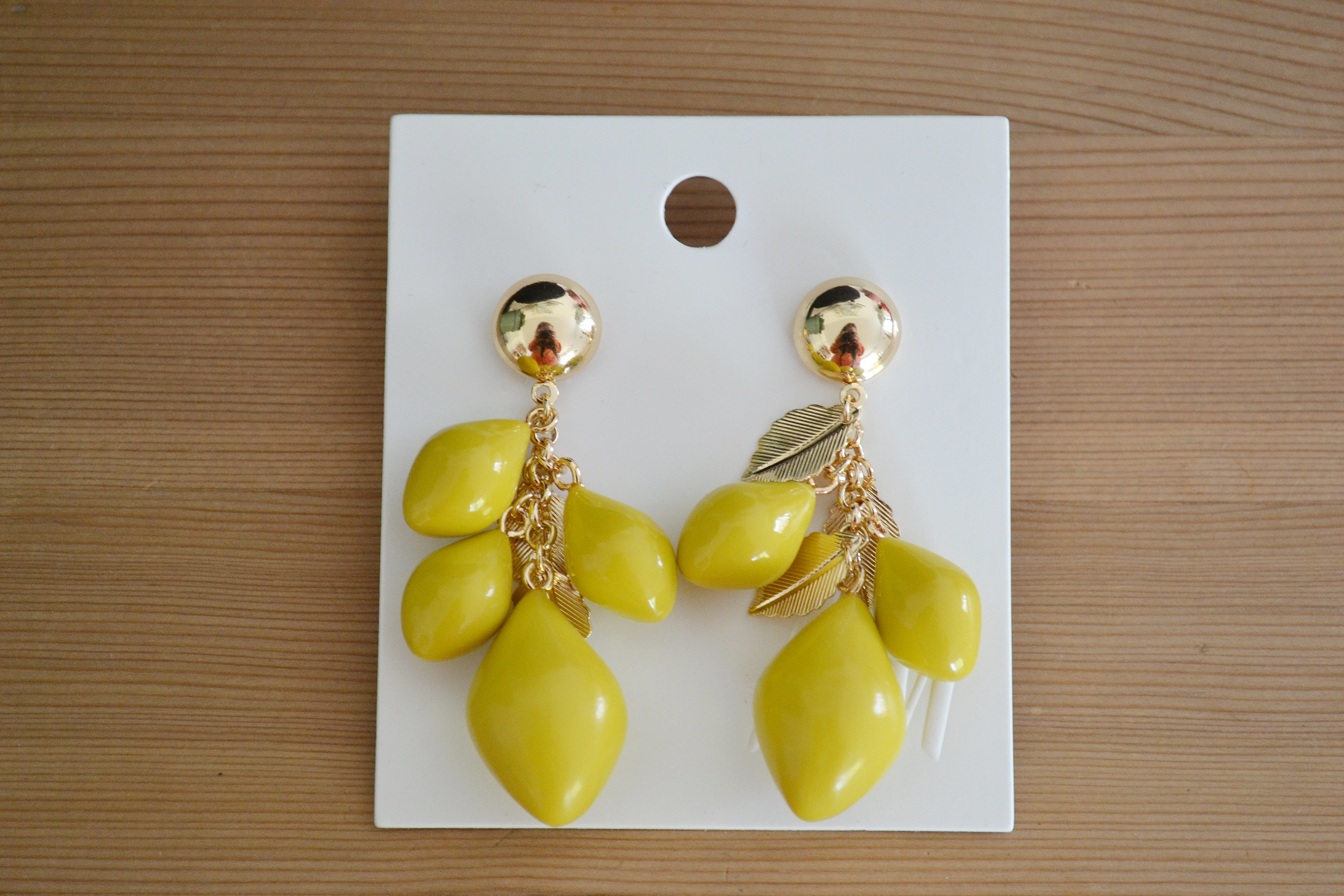 Citron øreringe