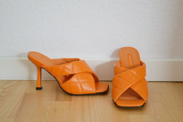 Orange quilted mules - Topshop