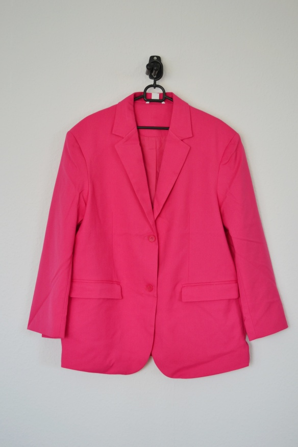 Pink oversized blazer - Monki