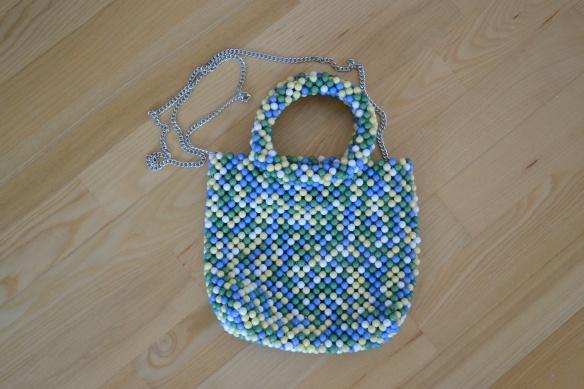 Blå, grøn, gul og hvis perletaske - Zara